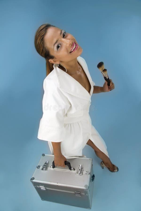 Artista De Maquillaje Lindo Foto De Archivo