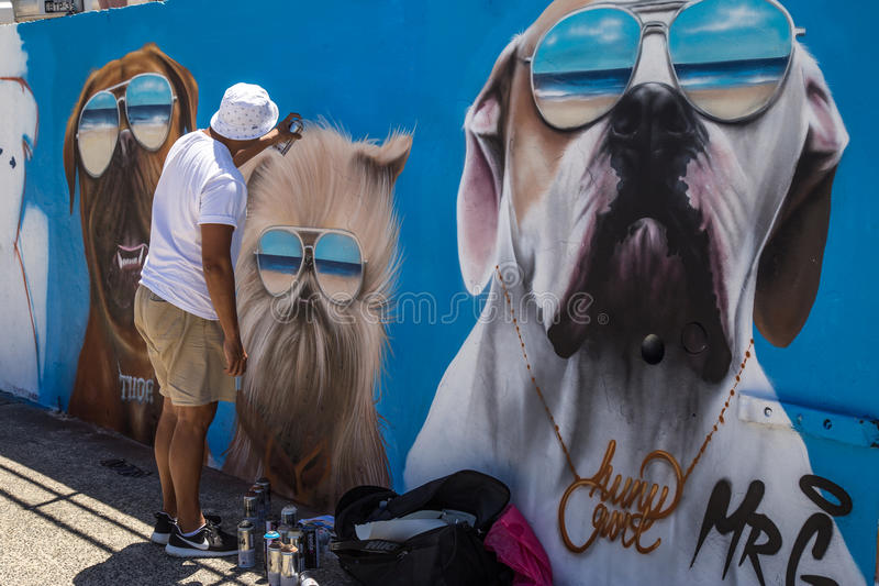 Artista dei graffiti fotografie stock