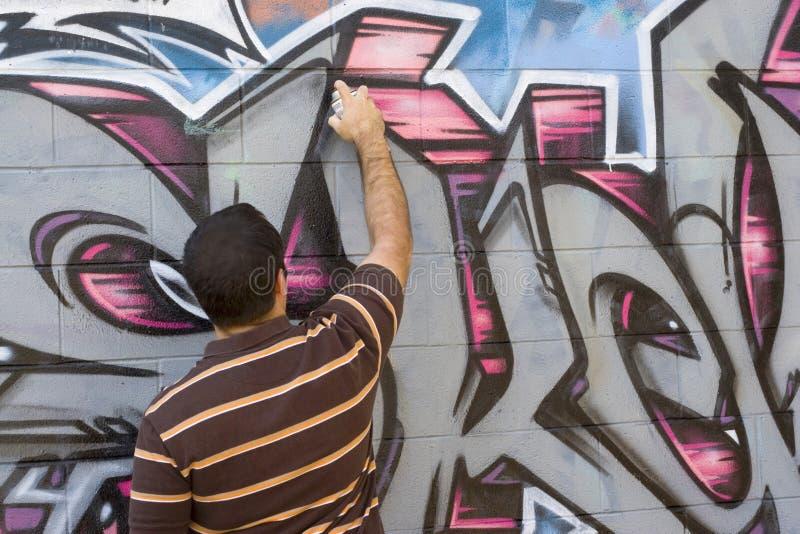 Artista dei graffiti immagini stock libere da diritti