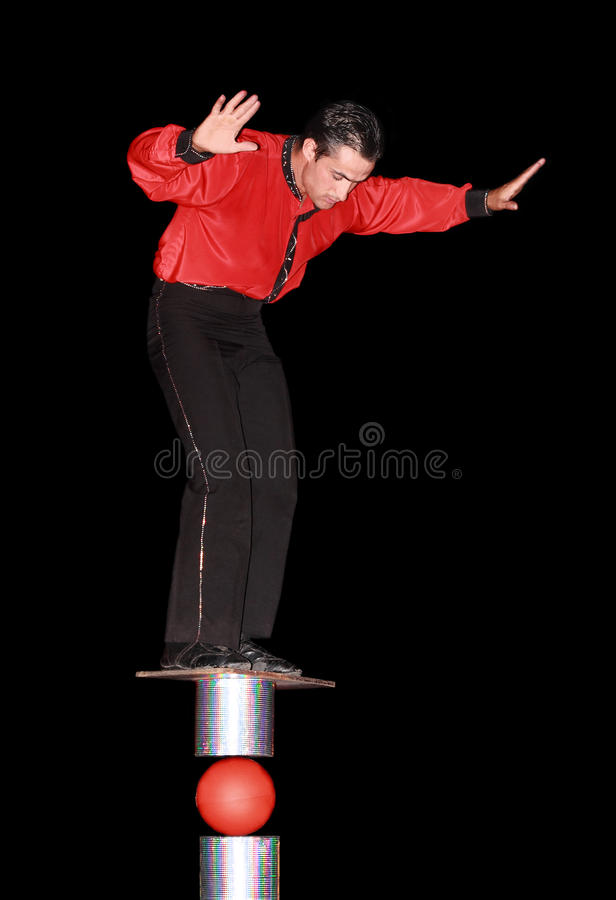Artista del circo immagine stock