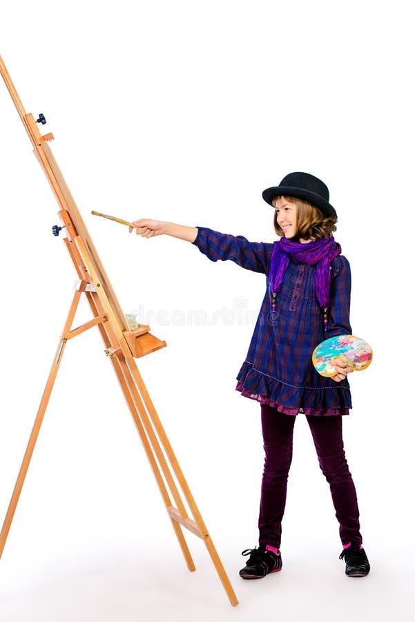 Artista della ragazza fotografie stock libere da diritti
