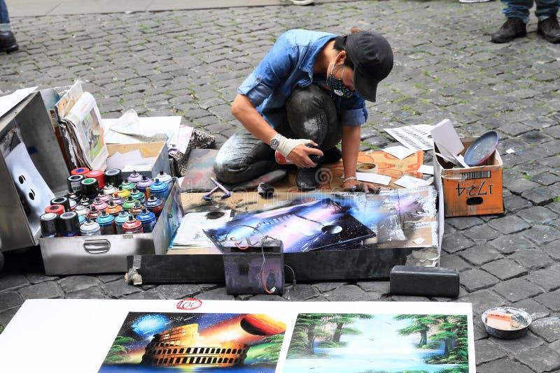 Artista della via fotografie stock libere da diritti