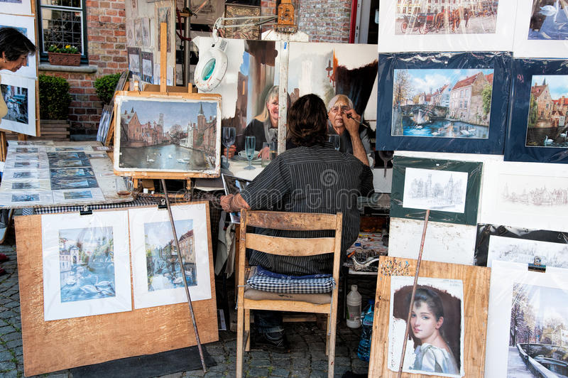 Artista Della Via Fotografia Stock Editoriale
