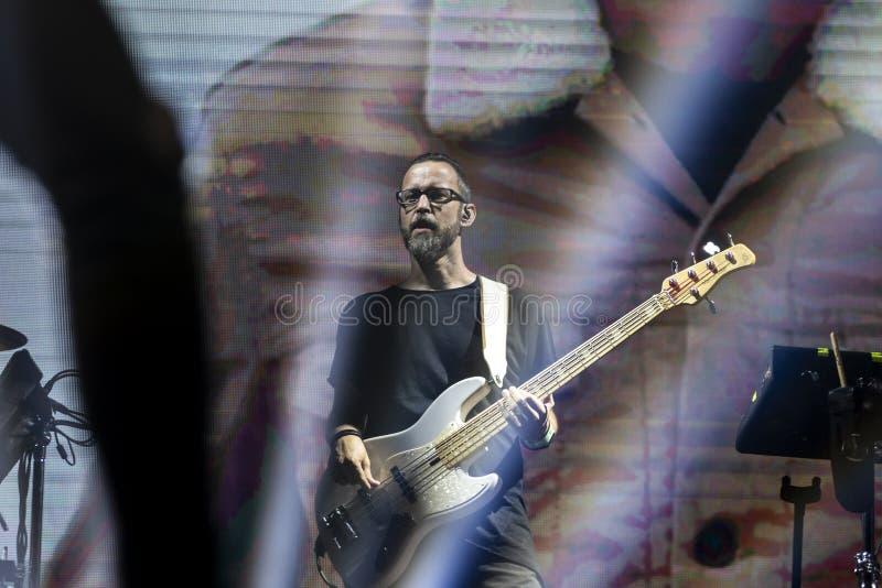 Artista di Diogo Piçarra che esegue sul festival di musica immagini stock libere da diritti