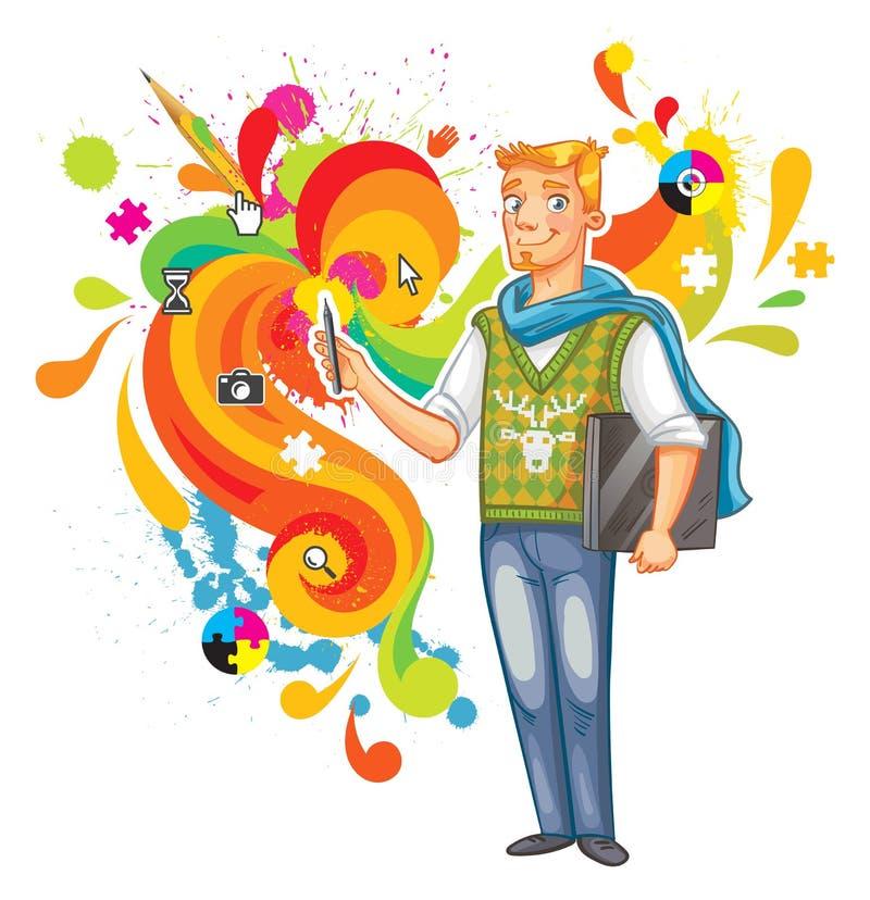 Artista-diseñador libre illustration