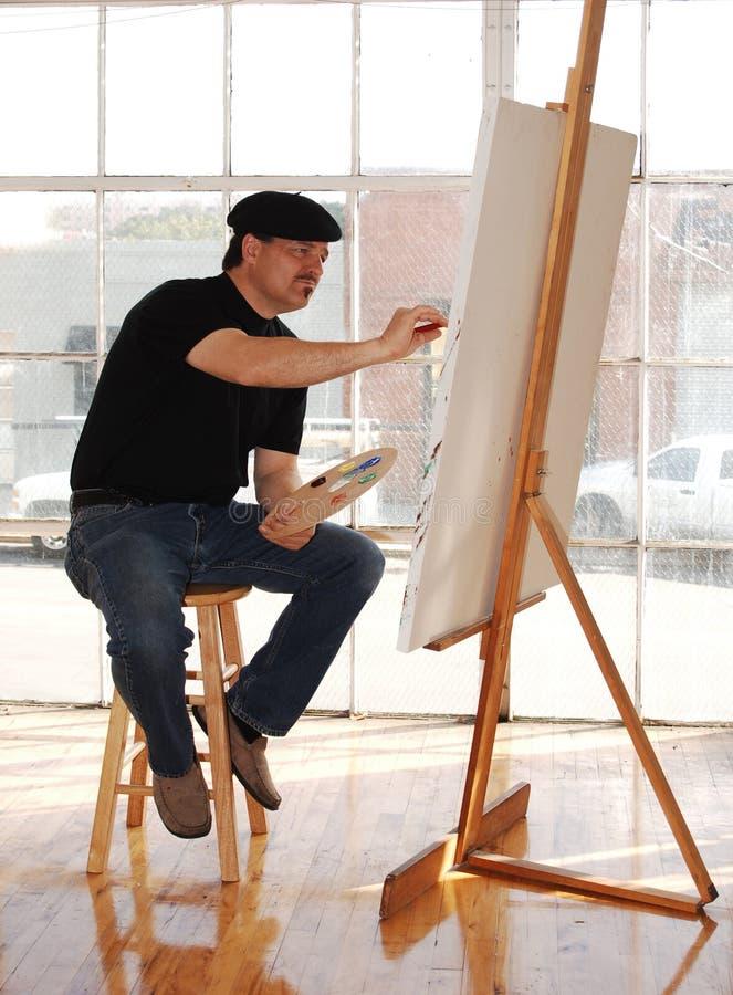 Artista do estúdio foto de stock royalty free