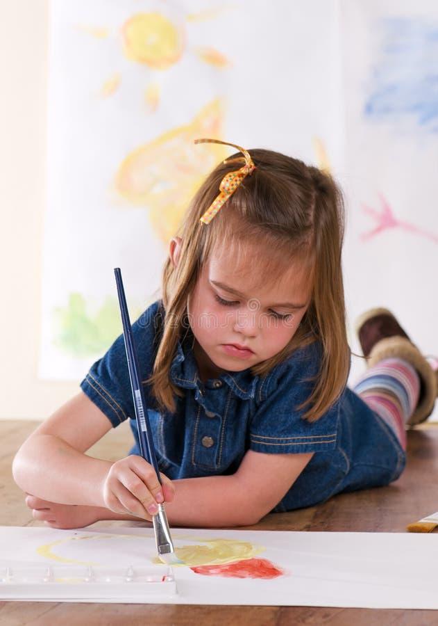 Artista do jardim de infância imagem de stock royalty free