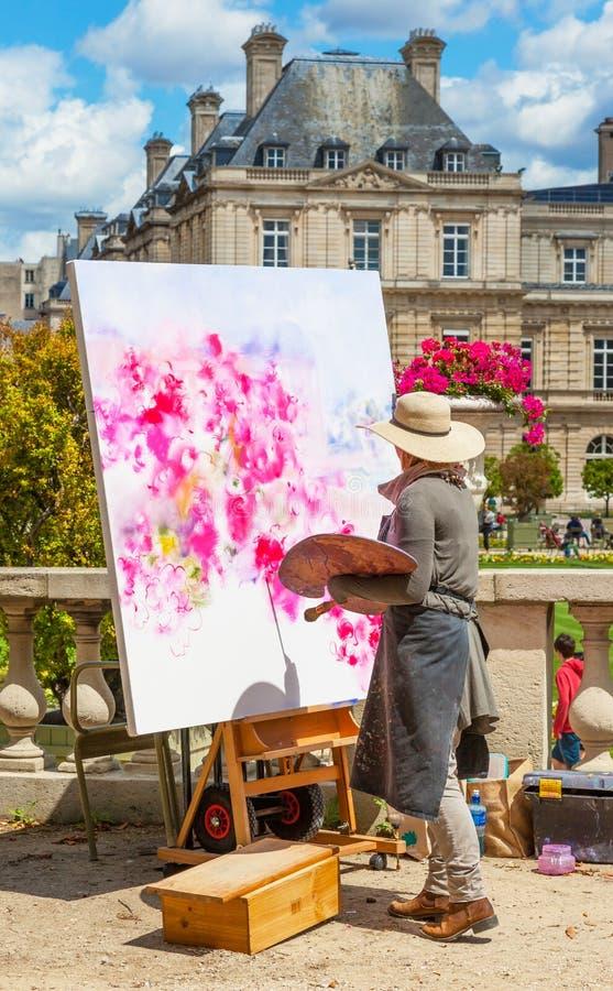 Artista dos Jardins do Luxemburgo fotografia de stock royalty free