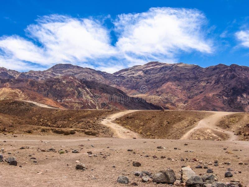 Artista Drive en Death Valley California imágenes de archivo libres de regalías