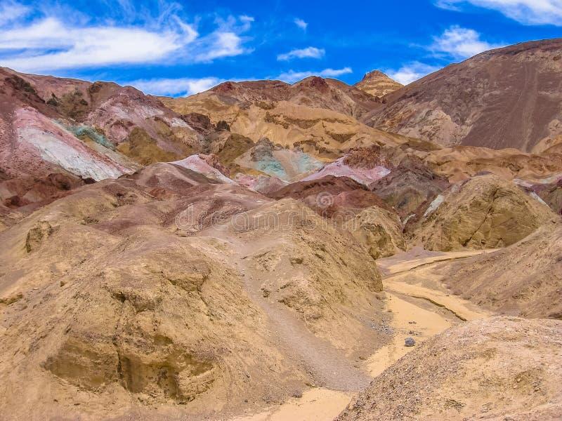 Artista Drive en Death Valley California fotos de archivo libres de regalías