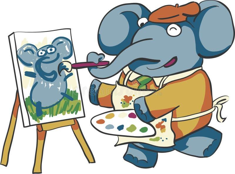 Artista Elephant fotografia de stock