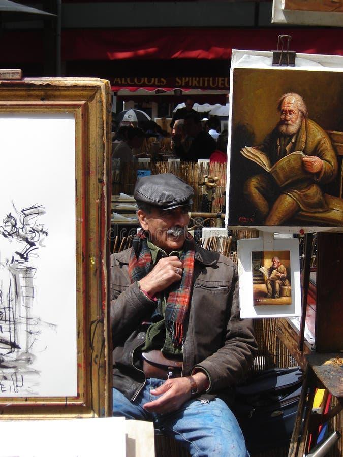 Artista em Monmartre, Paris imagem de stock