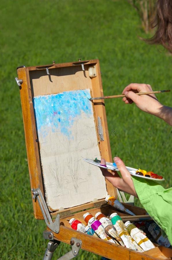 Artista en el trabajo fotos de archivo libres de regalías