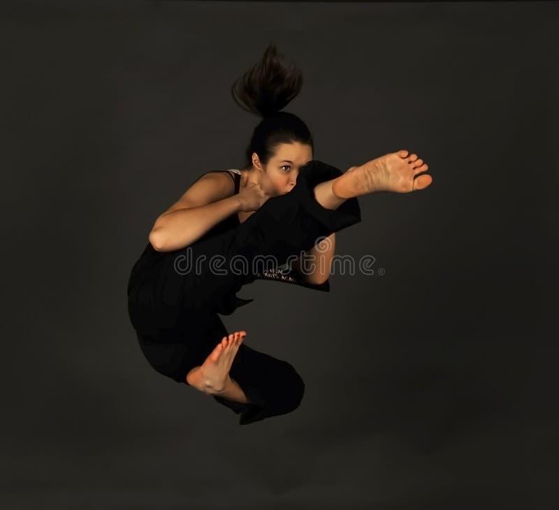 Artista marcial mezclado de sexo femenino de MMA. foto de archivo libre de regalías