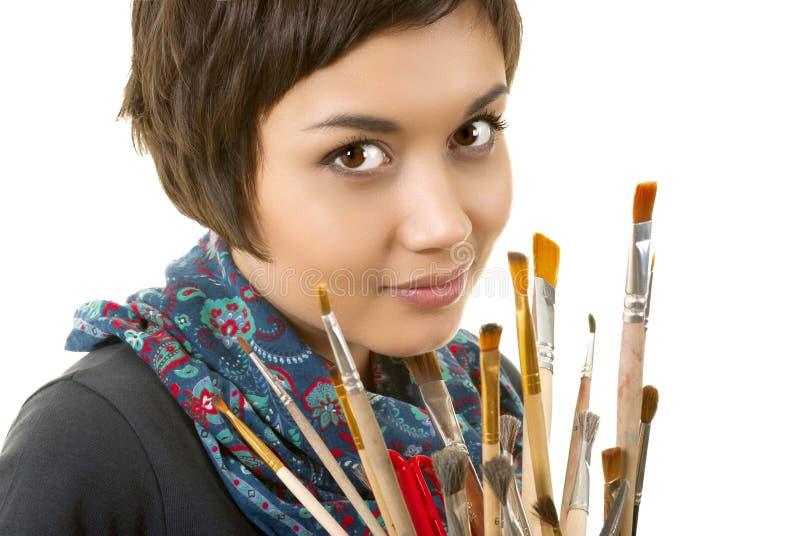 Artista-muchacha imagen de archivo