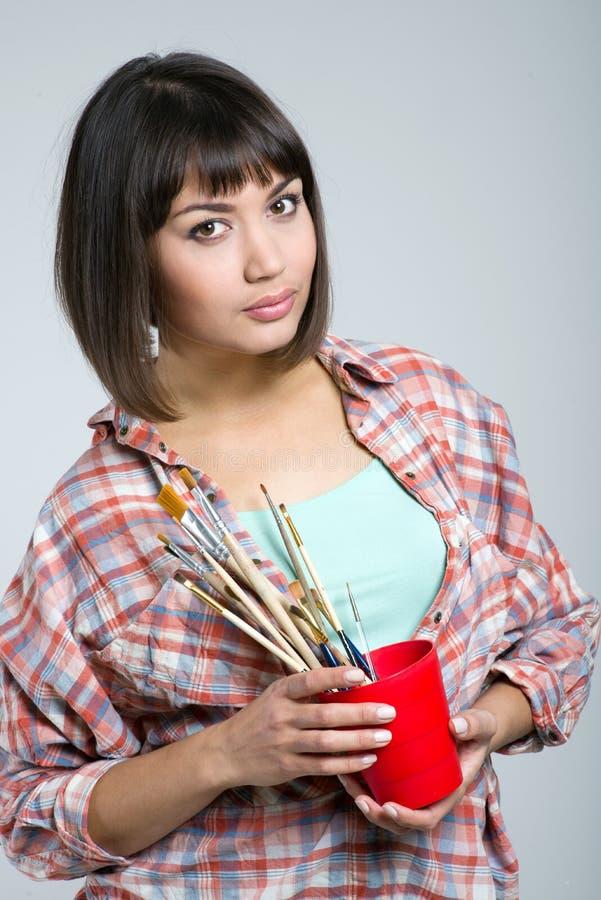Artista-muchacha foto de archivo