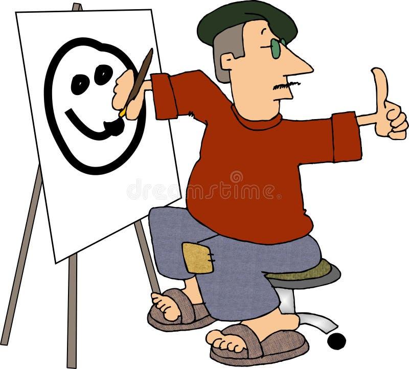 Artista muerto de hambre stock de ilustración