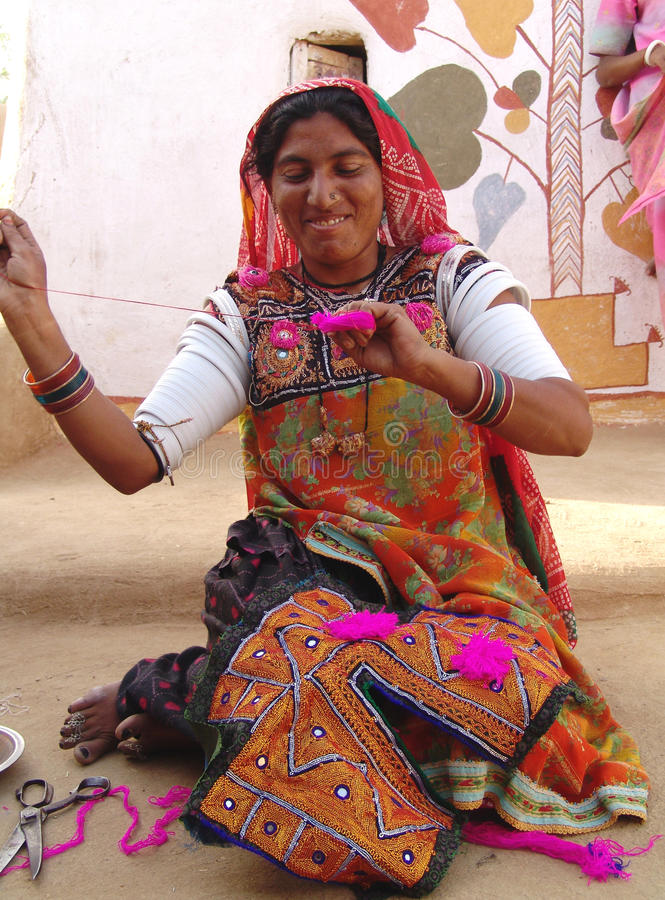 Artista no camelo justo, Jaisalmer da senhora, India fotos de stock