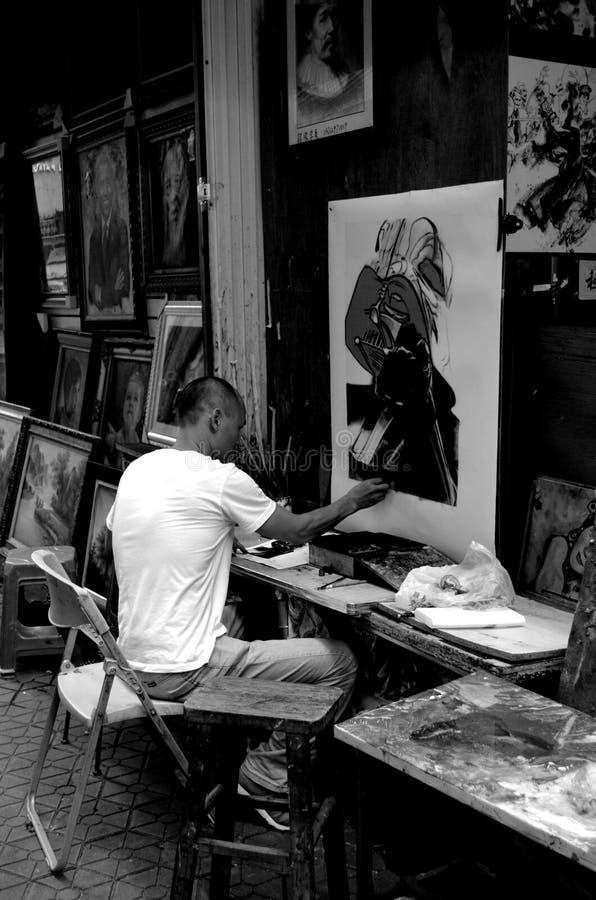 Artista no trabalho foto de stock royalty free