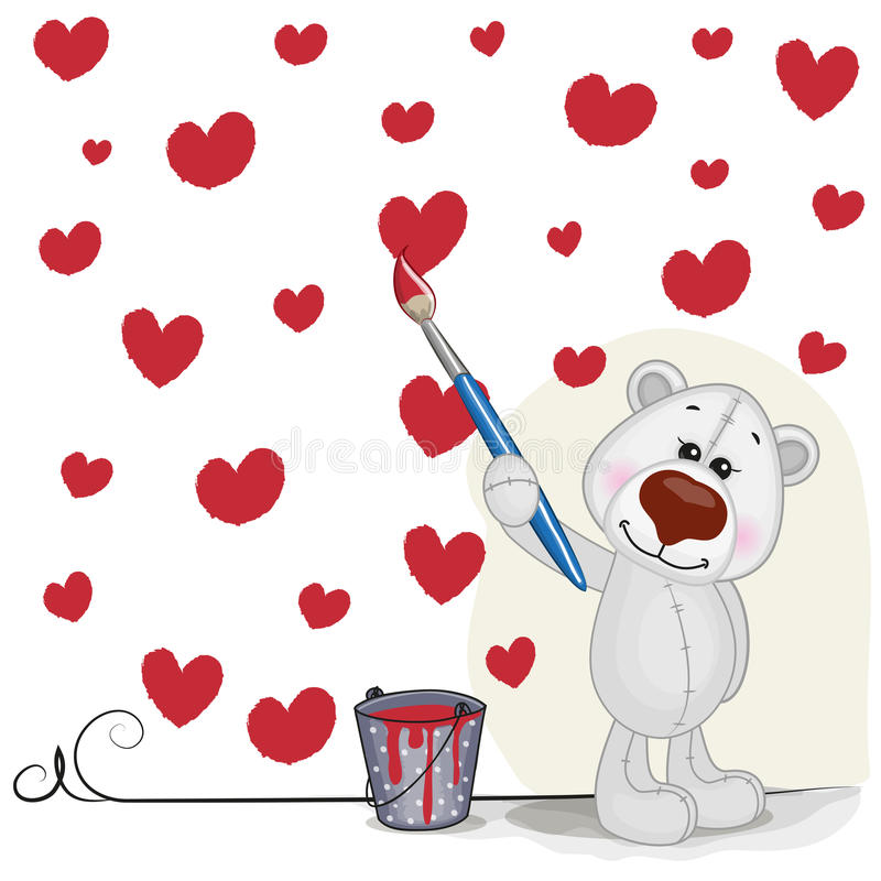 Artista Polar Bear ilustração royalty free
