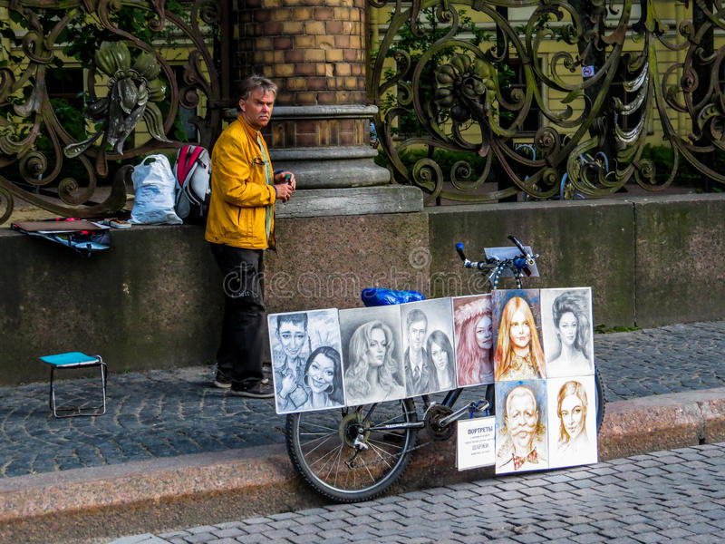 Artista ruso de la calle imagen de archivo libre de regalías