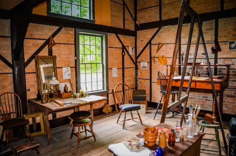 Artista Studio - Thomas Cole National Historic Site fotografia de stock