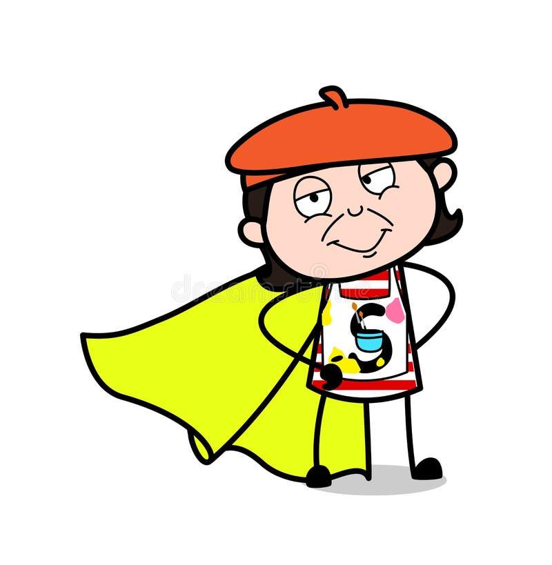 Artista super de sorriso - ilustração do vetor dos desenhos animados ilustração royalty free