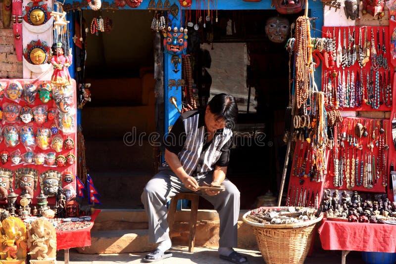 Artista At Swayambhunath Temple, Katmandu, Nepal fotos de archivo libres de regalías