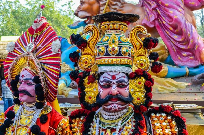 Artista tradicional Yakshagana de execução imagem de stock royalty free