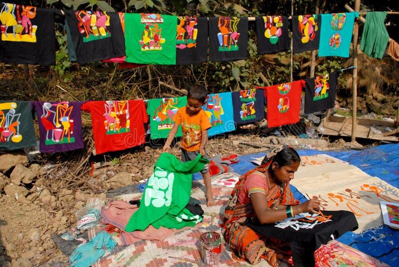 Artista Village Of India imagenes de archivo