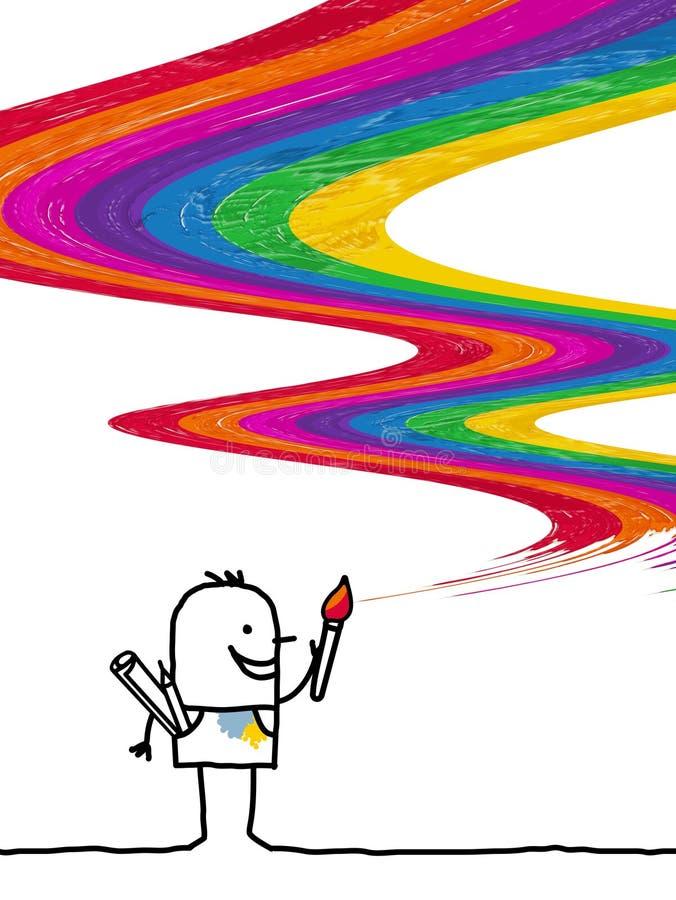 Artista y colores libre illustration