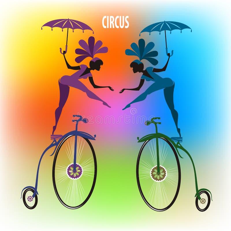 Artistas del circo stock de ilustración