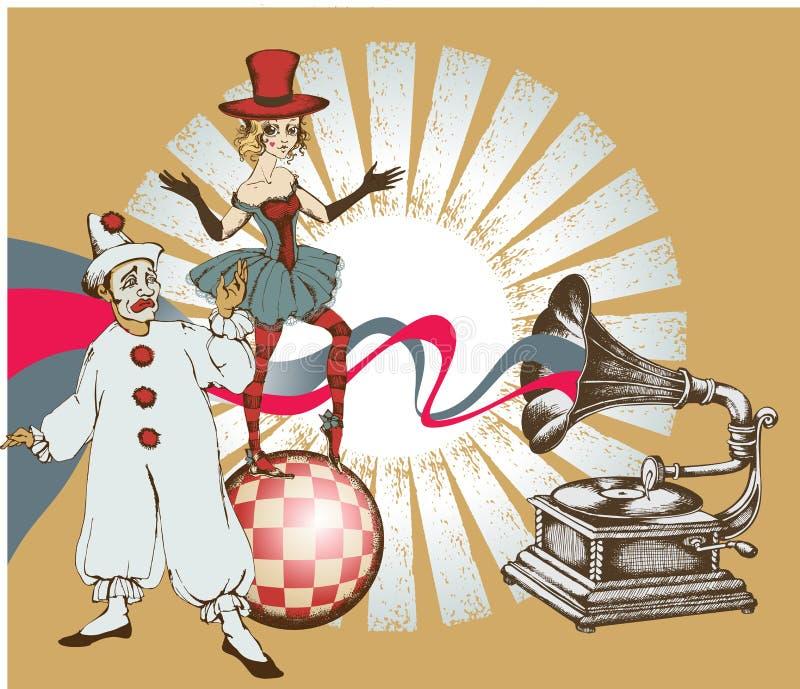 Artistas del circo ilustración del vector
