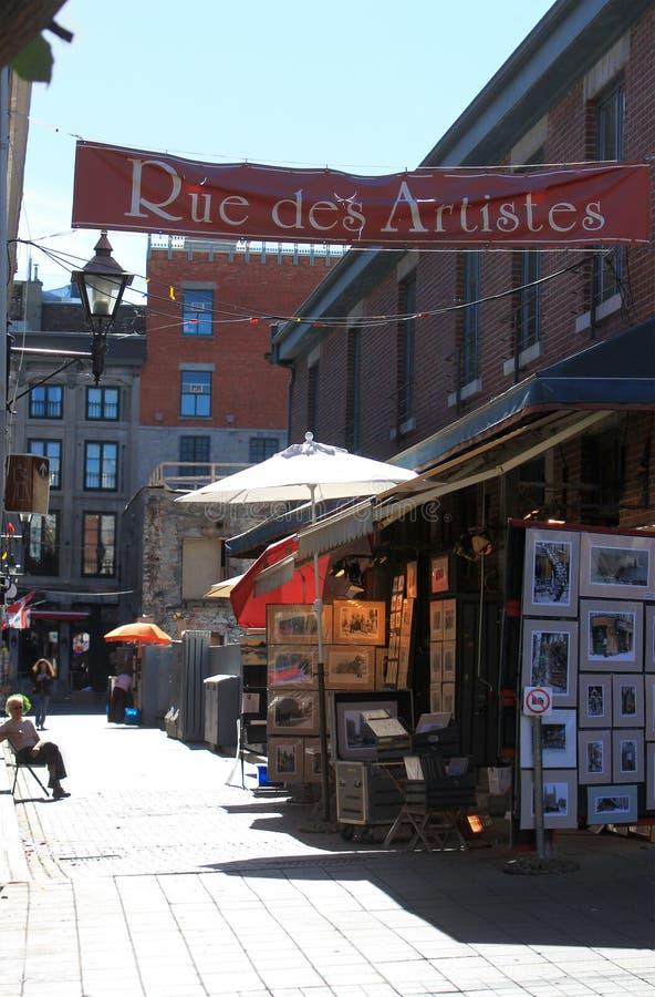 Artistas del DES de la ruda en Montreal vieja imagen de archivo