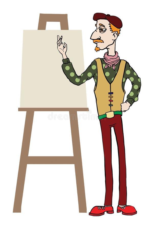 Artiste illustration de vecteur