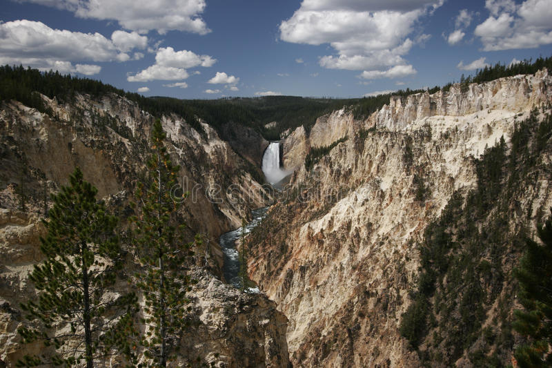 Artiste Canyon, parc national de Yellowstone images stock