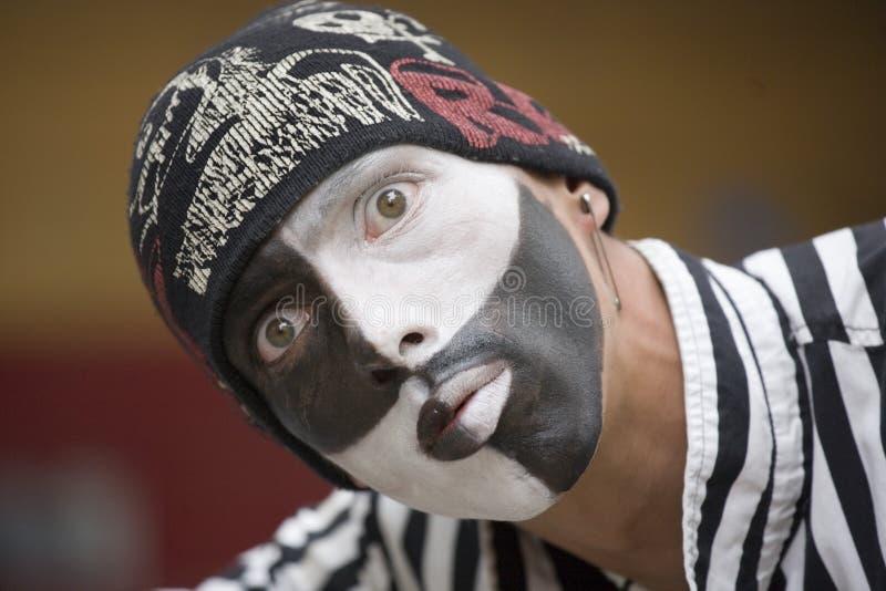 Artiste de pantomime photo stock