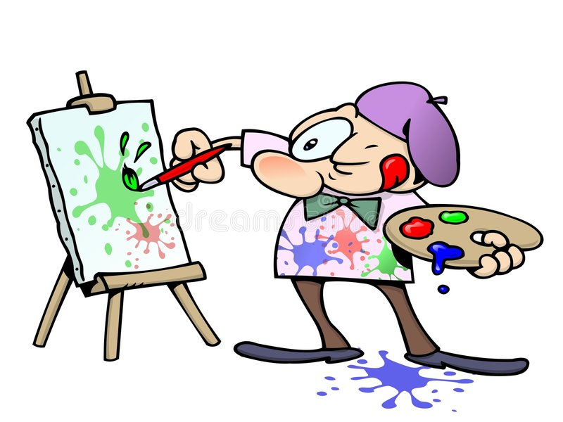Artiste de peinture illustration stock