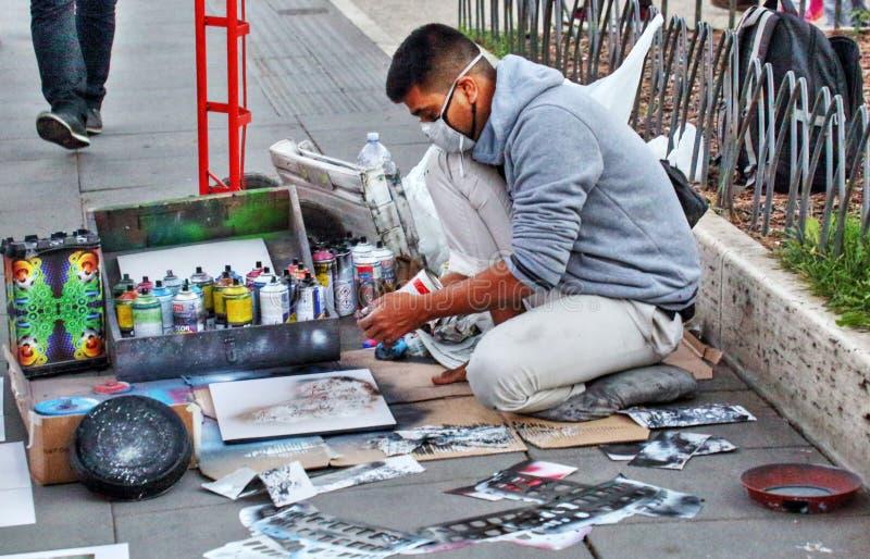 Artiste de rue à Rome photos stock