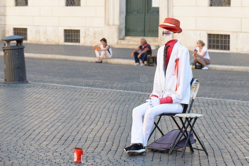 Artiste de rue dans la place de Navona photographie stock libre de droits