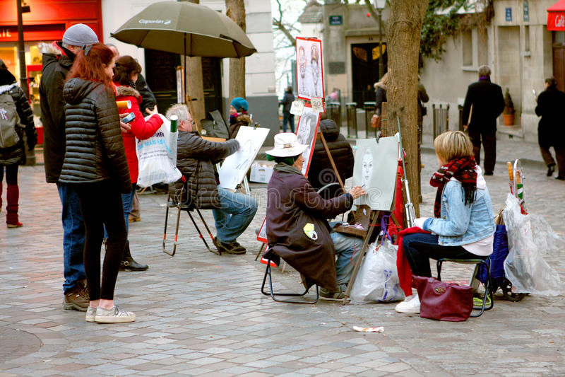 Artiste de rue - Montmartre photographie stock libre de droits