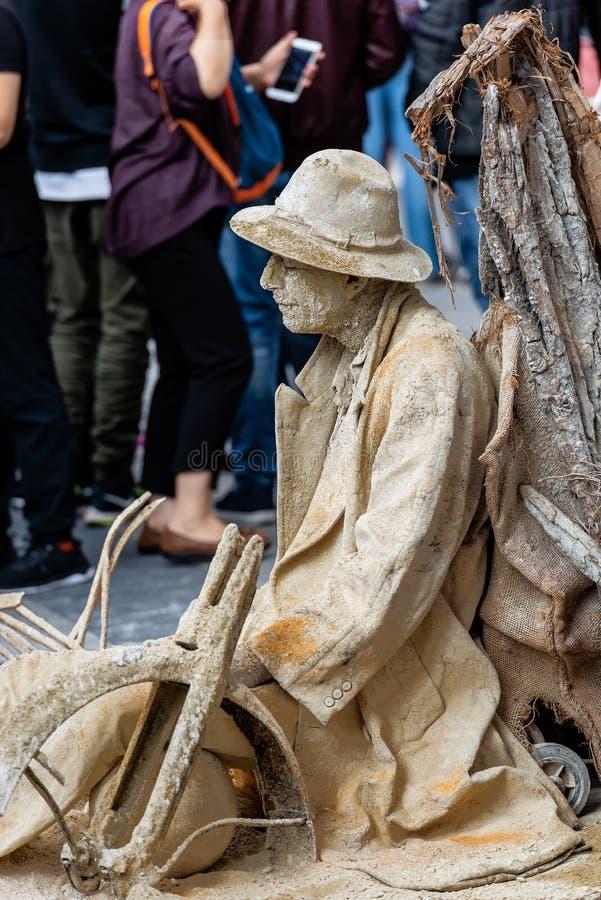 Artiste de rue Performs - Marienplatz Munich Allemagne photographie stock