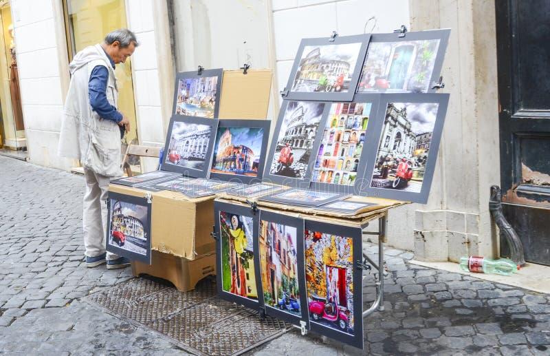 Artiste de rue, Rome, Italie images stock