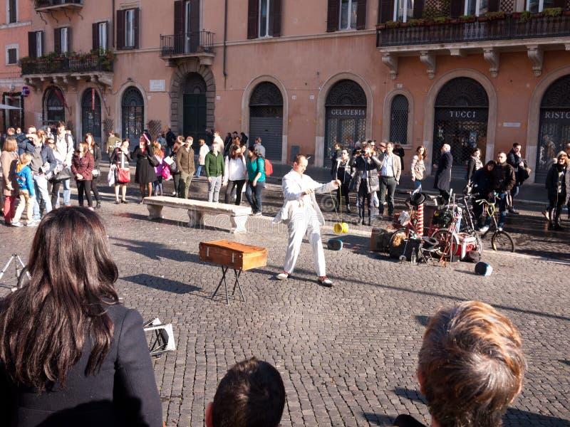 Artiste de rue de Rome Italie dans Piazza Navona images stock