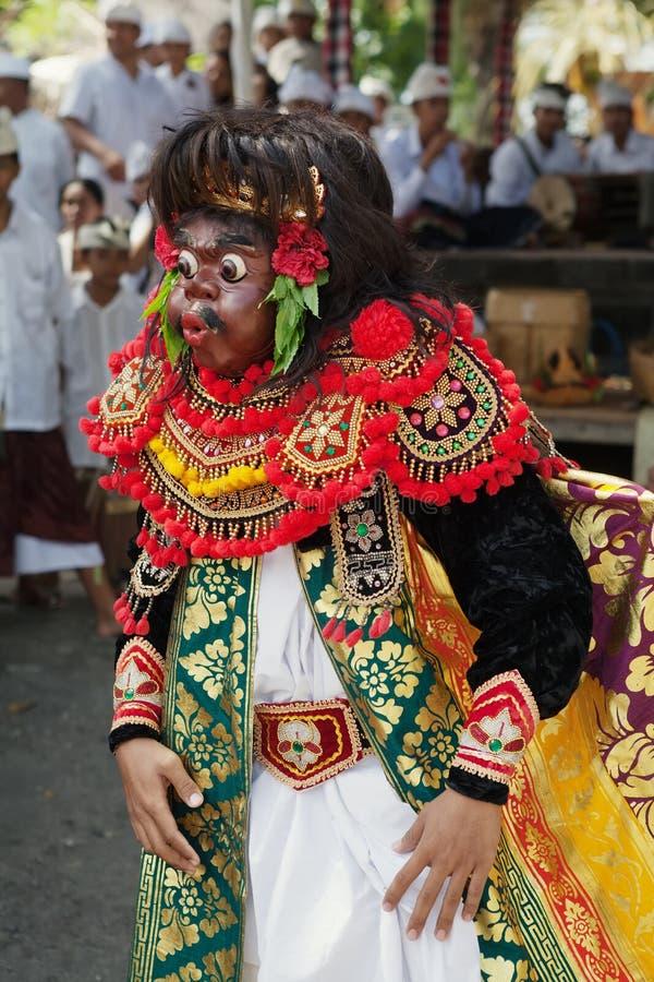 Artiste du théâtre traditionnel Topeng de Balinese image libre de droits