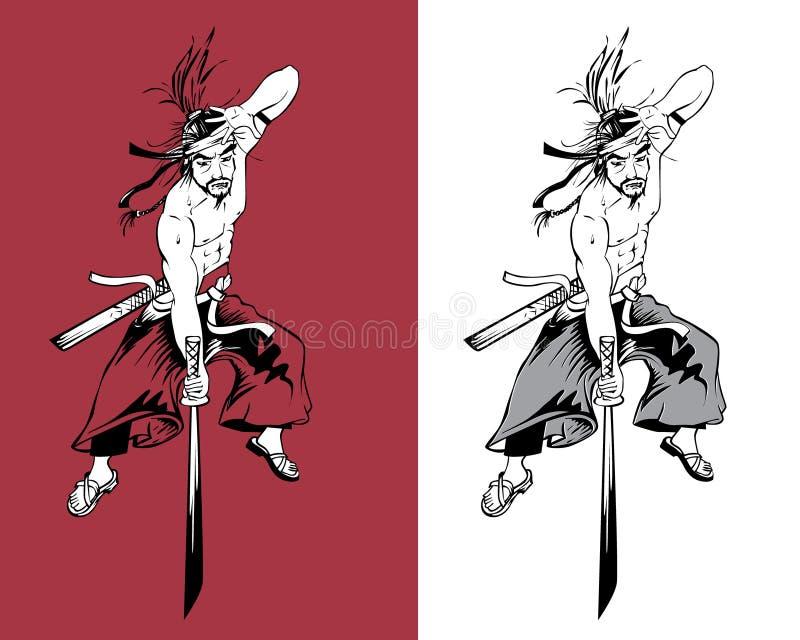 Artiste martial de Ninja illustration stock