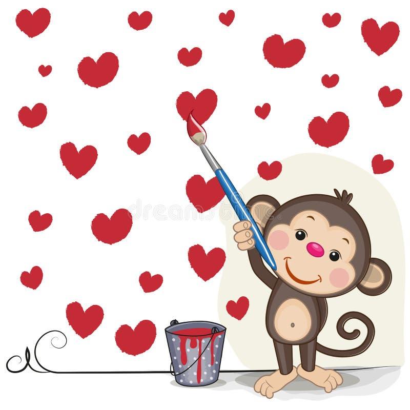Artiste Monkey illustration stock