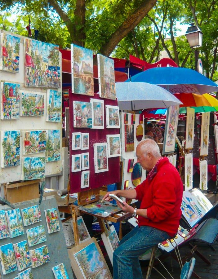Artiste Montmartre Paris France de rue image stock