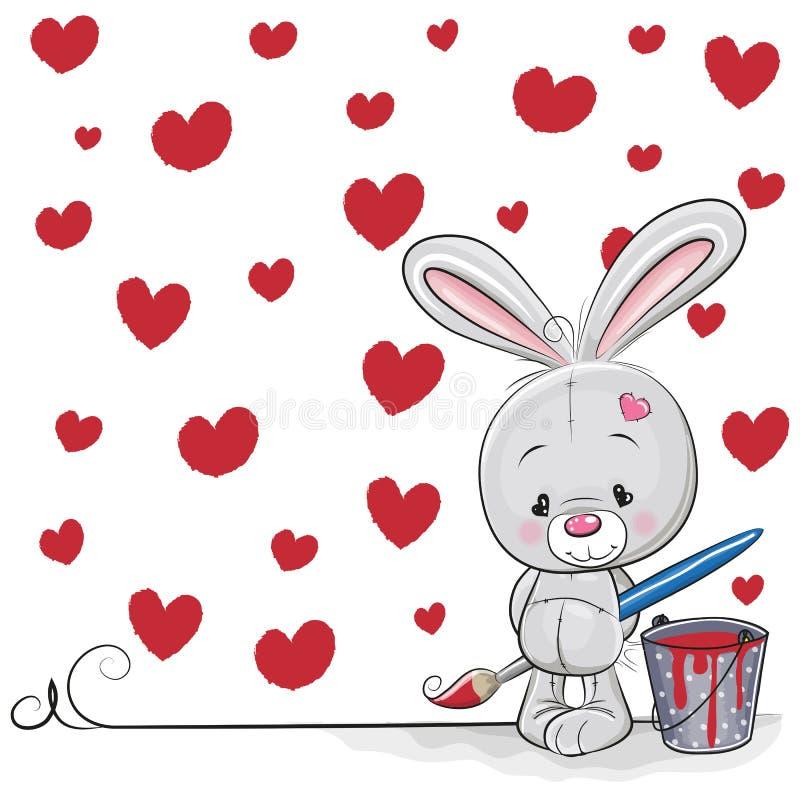 Artiste Rabbit illustration de vecteur