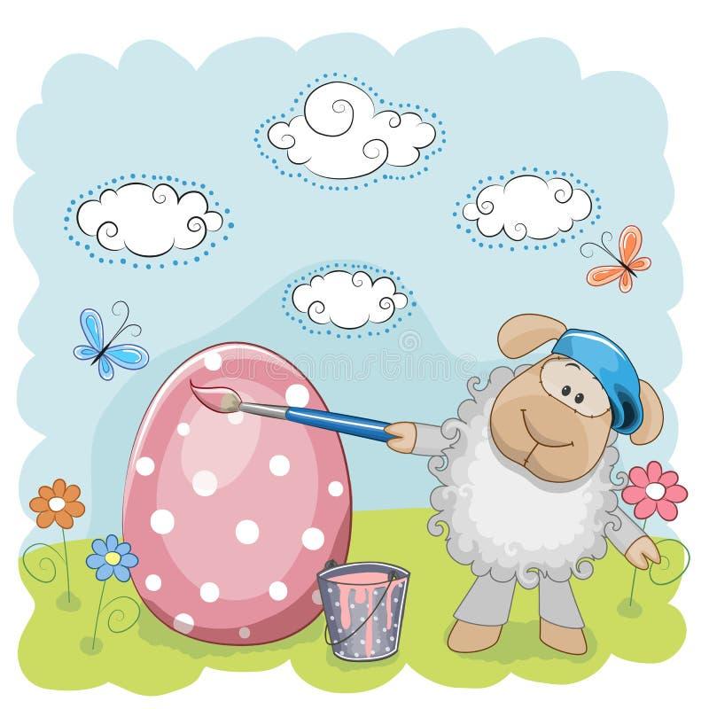 Artiste Sheep illustration libre de droits